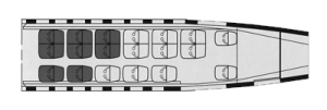 Embraer 110 interior layout
