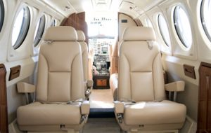 King Air B 200 interior - private-sky Private Air Charters