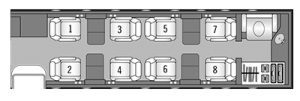 Lear Jet 45 interior layout - private-sky Private Air Charters