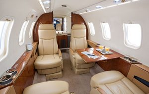 Bombardier Learjet 45 interior - private-sky Private Air Charters -1