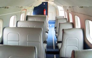 Embraer 110 interior - private-sky Private Air Charters